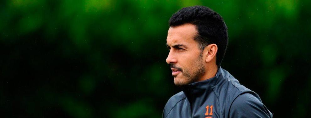 Pedro salió del Barcelona en 2015 con la llegada de Neymar, la cual derivó en falta de protagonismo para él.