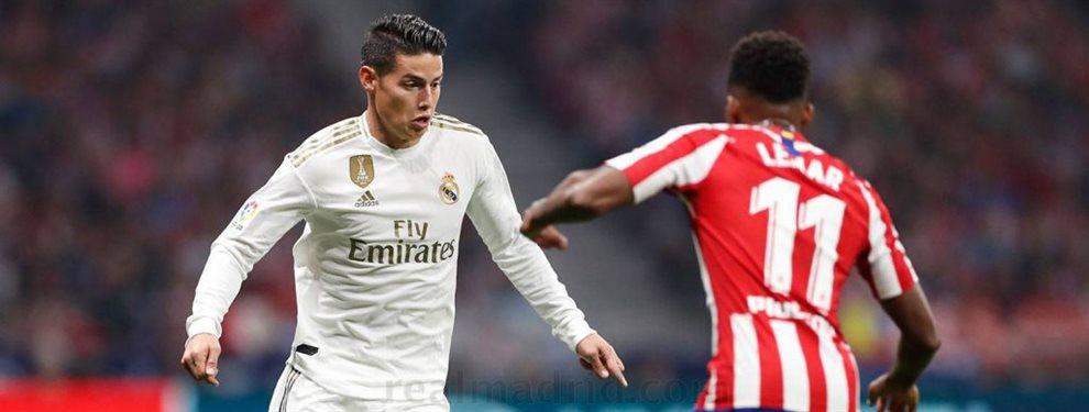 James Rodríguez no tiene lugar en el Real Madrid. El mensaje del cuerpo técnico es claro y debe buscar otro equipo.