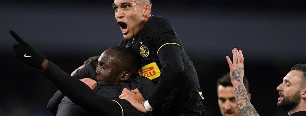 Con dos goles de Lukaku y otro de Martínez, el Inter alcanzó a la 'Juve' en la punta de la clasificación