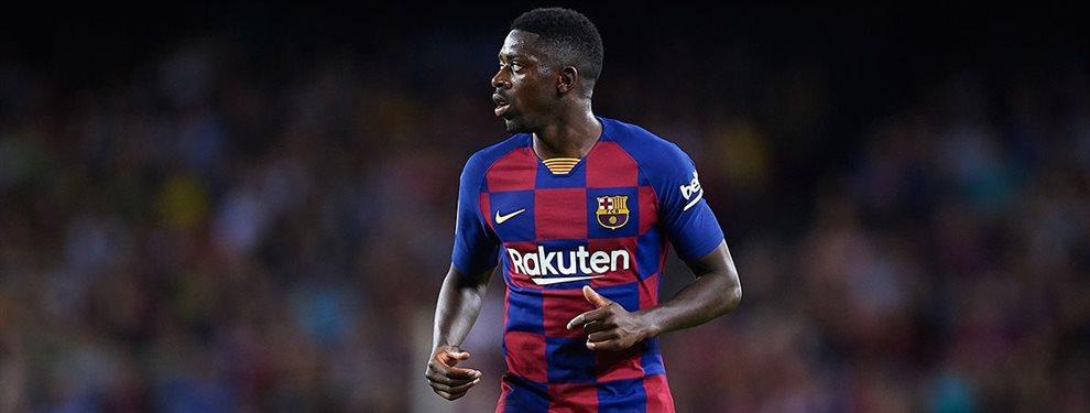 Ousmane Dembélé la ha vuelto a liar dándole 'like' a una foto que aparece con la camiseta del Liverpool