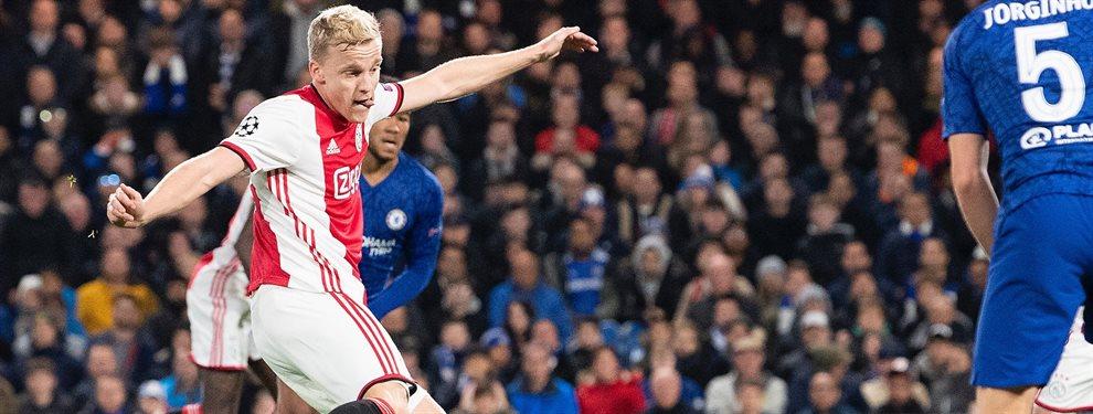Donny Van de Beek era el objetivo de Florentino Pérez y su secretaría técnica para el año que viene. Pero el Manchester United se le ha adelantado