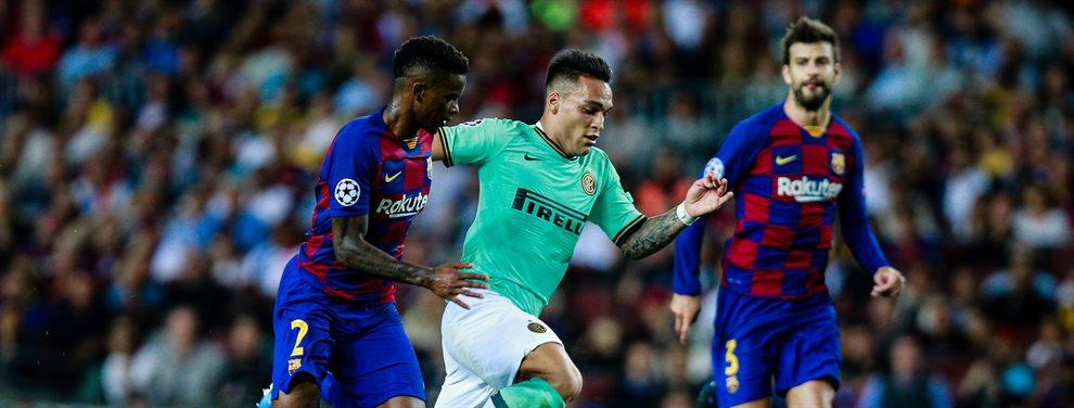 Diego Pablo Simeone se fue a por Junior Firpo tras acabar el partido entre Barça y Atlético