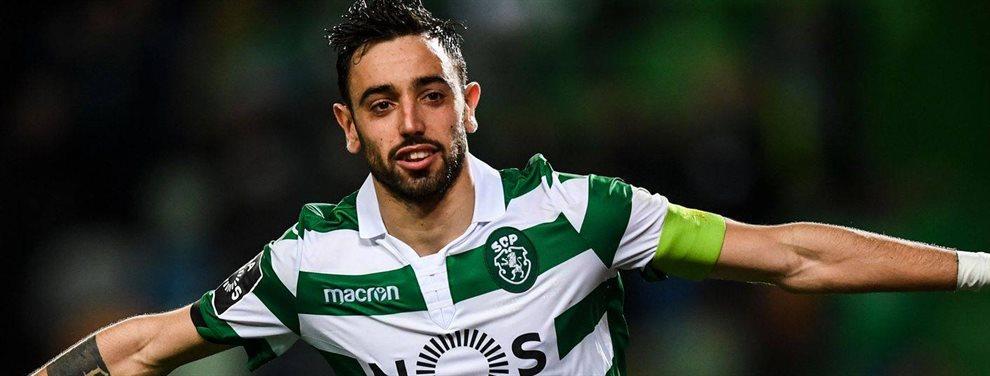 Bruno Fernandes renovó con el Sporting de Lisboa en septiembre, pero todo fue un movimiento de despiste. El United va a firmarlo ahora y Pogba lo celebra