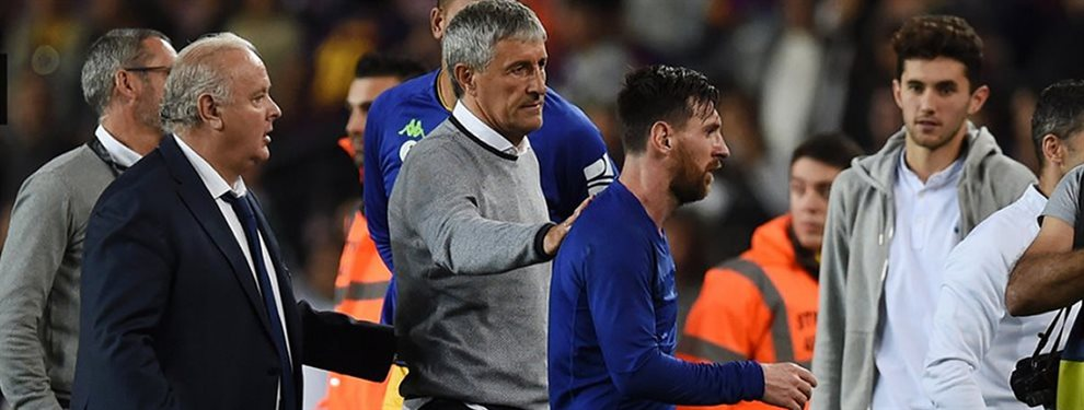 Quique Setién se convirtió en el octavo entrenador de Lionel Messi en el Barcelona.