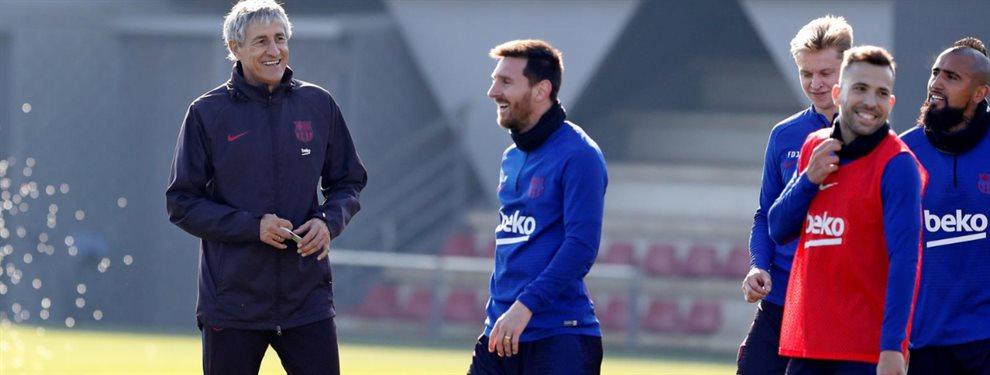 Se conocieron algunos detalles de la reunión que mantuvieron Quique Setién y Lionel Messi.