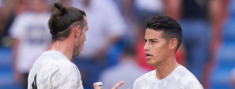 ¡Se acabó! Empieza a vislumbrarse el plan de Zinedine Zidane con Gareth Bale y James Rodríguez: sois prescindibles y saldréis al final de temporada sí o sí