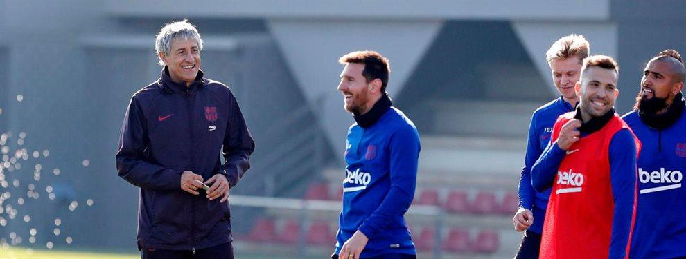 El técnico del Fútbol Club Barcelona se estrena en su campo ante su afición y manda un mensaje alto y claro a su directiva: quiere un sustituto para Suárez