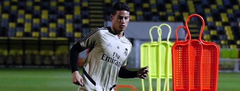 James Rodríguez se ha negado a salir del Real Madrid para ir a la Juventus de Cristiano Ronaldo