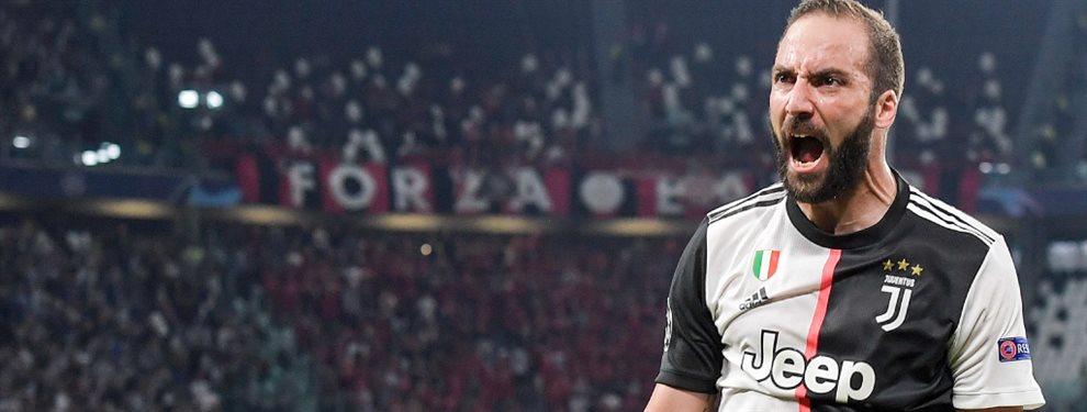 Gonzalo Higuaín podría convertirse en el reemplazante de Edinson Cavani en el PSG.