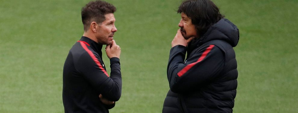 Luego de una extensa relación, el Mono Burgos podría dejar de ser el ayudante de campo de Diego Simeone.