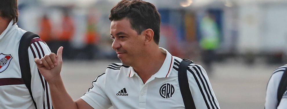 Marcelo Gallardo ensayó tres modificaciones en la formación de River para enfrentar a Godoy Cruz.
