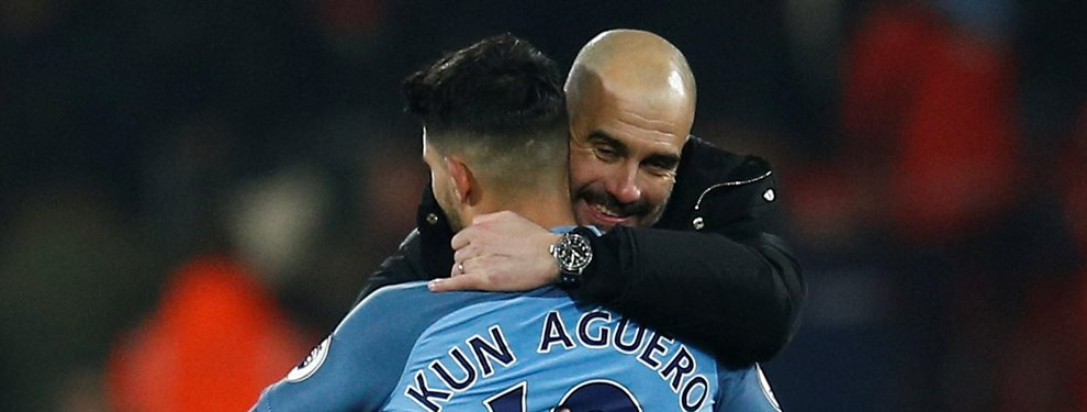 Guardiola no se lo puede creer: a un mes del duelo contra el Real Madrid puede perder a su mejor delantero ¡Ojo a la propuesta que le ha llegado al Kun!
