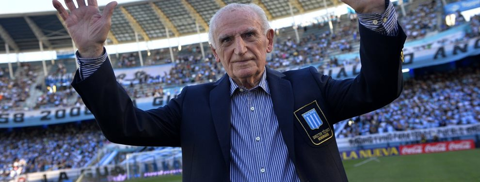 A los 92 años, falleció Juan José Pizzuti, uno de los ídolos más importantes de Racing.