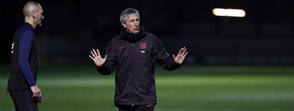 Quique Setién va asumiendo el mando con mayor fuerza en el Barça de acuerdo a las últimas decisiones.