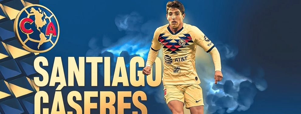 Ni Boca, ni River, Santiago Cáseres se convirtió en nuevo futbolista del América.
