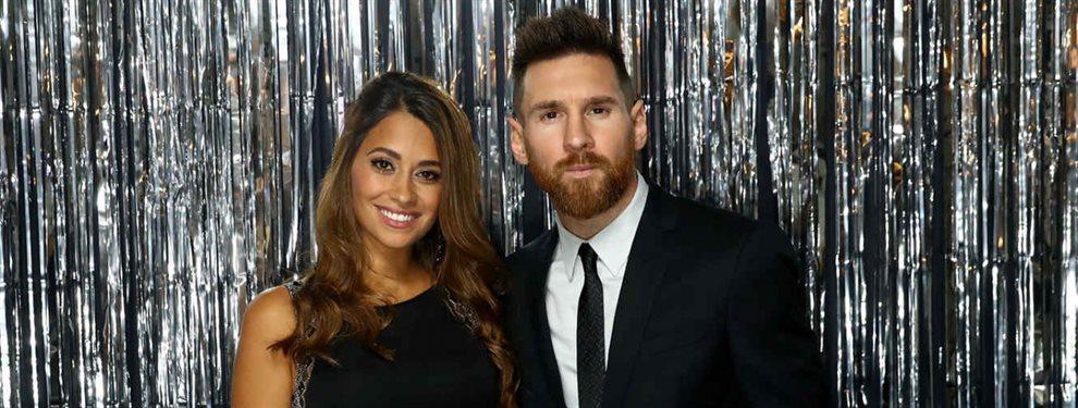 Antonella Roccuzzo está preocupada por el futuro de su marido, Leo Messi, que puede dejar el Barça