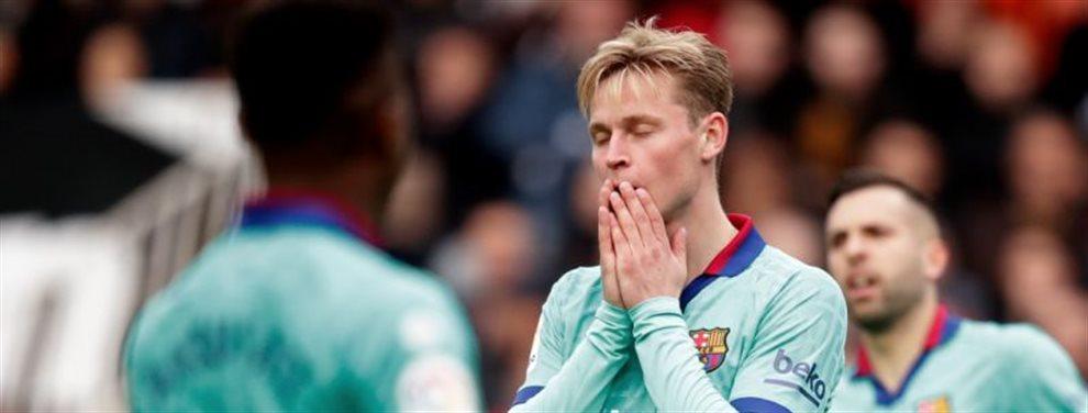 Otra malísima noticia en el Fútbol Club Barcelona que no ve el final de su crisis. Hay asunto De Jong y de enquistarse podría haber cambio de planes pronto