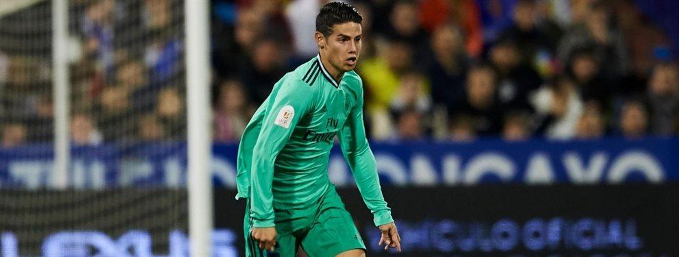 James Rodríguez puede acabar en el Everton y acercaría a Richarlison, muy del gusto de Zidane