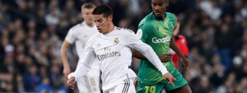 A James Rodríguez no le hizo ni pizca de gracia ser sustituido al descanso ante la Real Sociedad