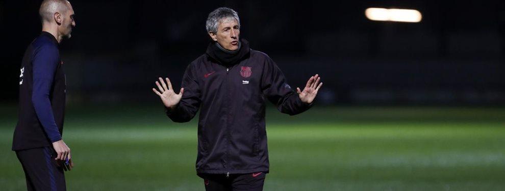 Quique Setién está sentenciado y será destituido del Barça a final de temporada.