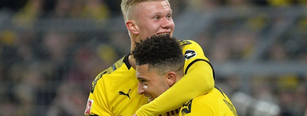 El futbolista inglés del Dortmund, Jadon Sancho puede salir en verano. Chelsea y Manchester United quieren ficharle pero en Alemania quieren que se quede