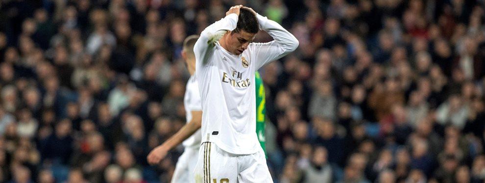 El Real Madrid baraja incluir a James Rodríguez más 40 millones por Kai Havertz.