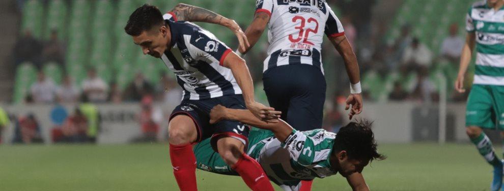 Matías Kranevitter debutó de manera oficial en Monterrey en el empate 0-0 con Santos Laguna por la Copa México.