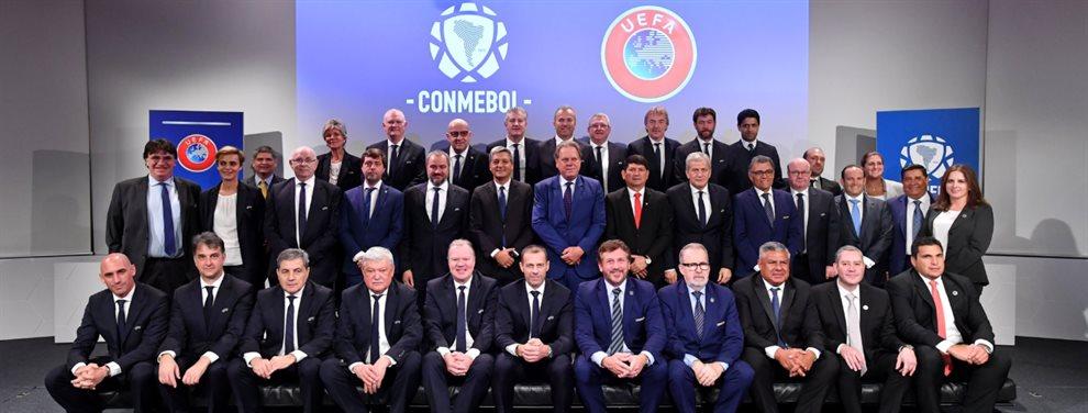 Las claves del cónclave Conmebol-UEFA y el malestar que generó en FIFA