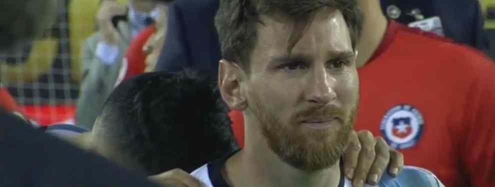 El mensaje de Claudio Bravo a Leo Messi fuera de cámara