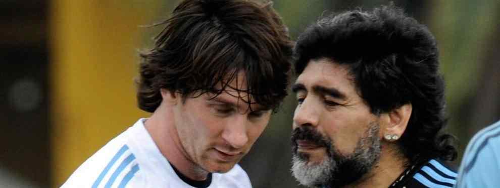 Messi está harto del doble juego que se lleva Maradona con él