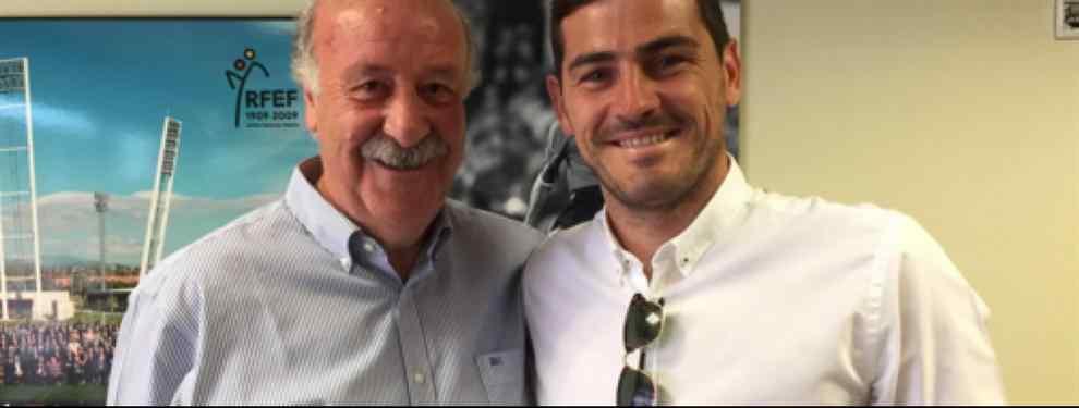 Lo que hay trás de la foto de la paz entre Del Bosque (destituido) y Casillas