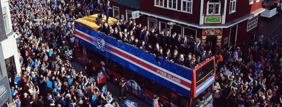 Así han recibido en Islandia a los 'héroes' de la Eurocopa 2016