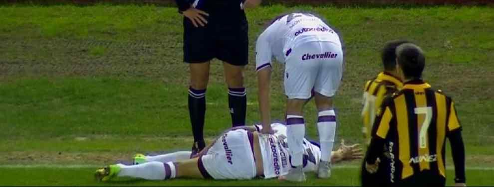 Seria lesión del pibe Maciel en Lanús