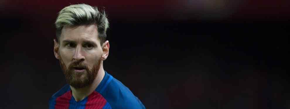 La Pulga le dijo a los directivos del club catalán que no firmará un nuevo vínculo si no se aseguran a un delantero