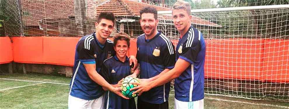 ¡El hijo del Cholo Simeone 'pincha' al Real Madrid! Polémica en las redes
