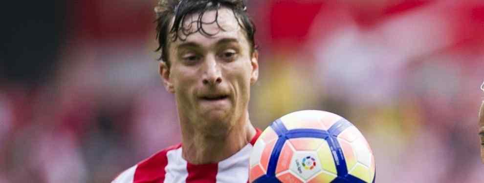 El central ex del Athletic está considerado en Gijón como el peor fichaje de la temporada