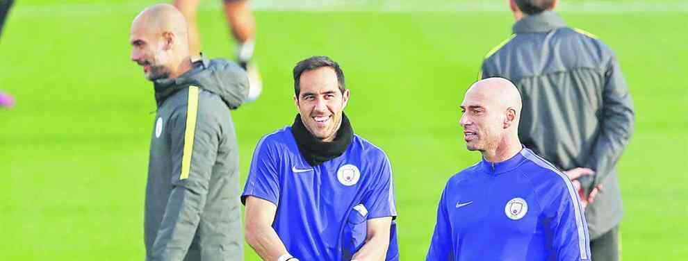 ¿Claudio Bravo o Willy Caballero? Guardiola elige quién va a marcharse del Manchester City