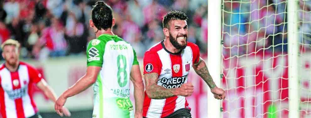 Estudiantes hizo el gol y lo defendió con uñas y dientes ante Atlético Nacional