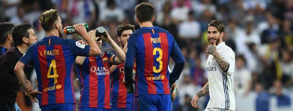 Sergio Ramos y Piqué la lían en los vestuarios del Bernabéu tras su cruce de palabras en el césped