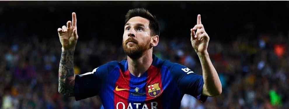 Messi se acuerda de Cristiano Ronaldo en la celebración de la Copa del Rey