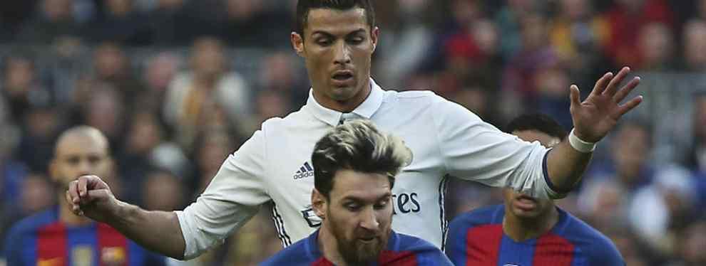 ¿Cristiano Ronaldo intenta copiarse de Lionel Messi?