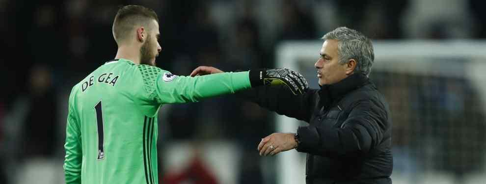 Mourinho pone un nombre inesperado del Real Madrid sobre la mesa para negociar la salida del United de David de Gea