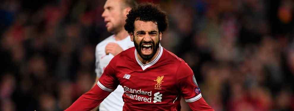 Florentino Pérez prepara un trueque para llevarse a Mohamed Salah del Liverpool