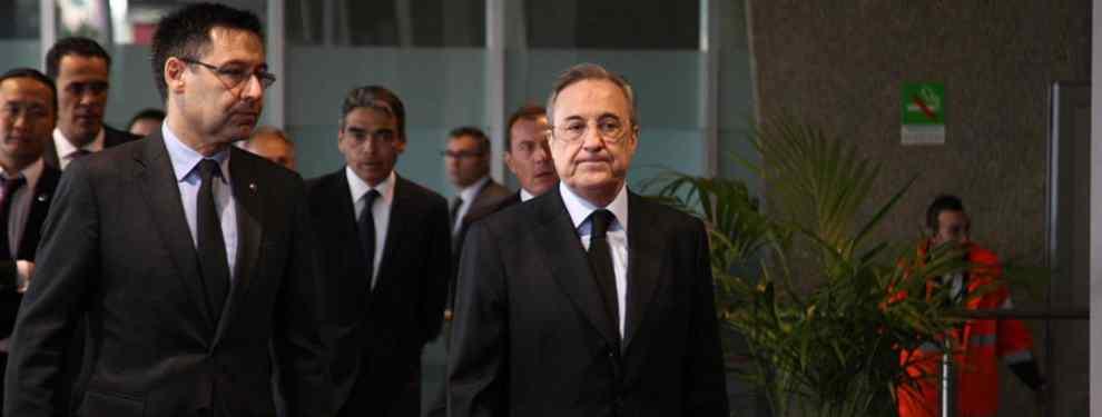 El Barça que preside Josep Maria Bartomeu está decidido frustrar la llegada al Real Madrid de un jugador sorpresa que está en la agenda que maneja Florentino Pérez