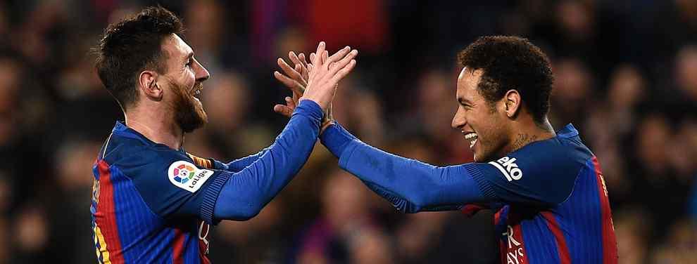 Neymar mete a Leo Messi en su fichaje por el Real Madrid. El brasileño pone el nombre del argentino sobre la mesa en las conversaciones con el conjunto blanco.