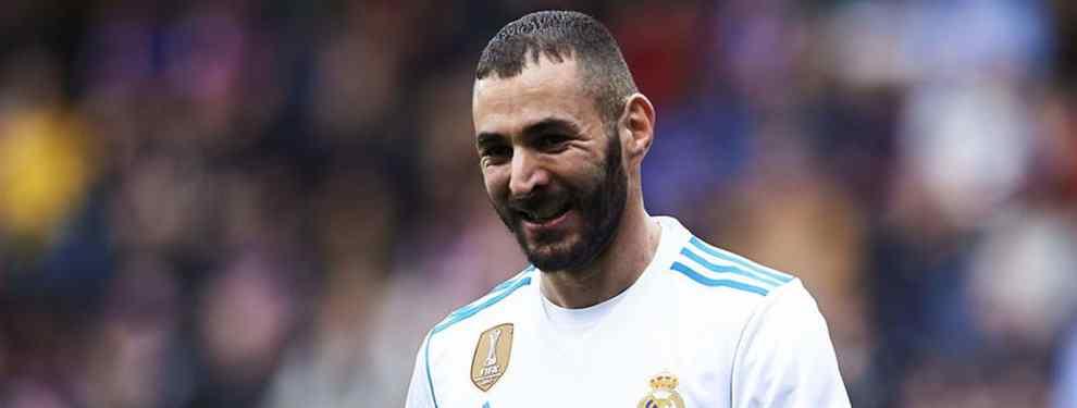 Karim Benzema tiene mercado. El crack del Real Madrid lleva en el escaparate desde el pasado verano.  Zidane negó su marcha en agosto, pero, avisan en el Real, es este año no pasará.