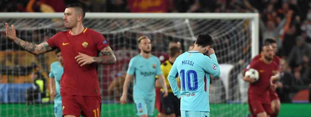 Lío en el Barça. La debacle contra la Roma deja al descubierto las miserias internas de un Barcelona en destrucción.  El equipo vive de Messi, avisan desde dentro, y cuando Messi levanta el pie pensando en el Mundial, falla todo.
