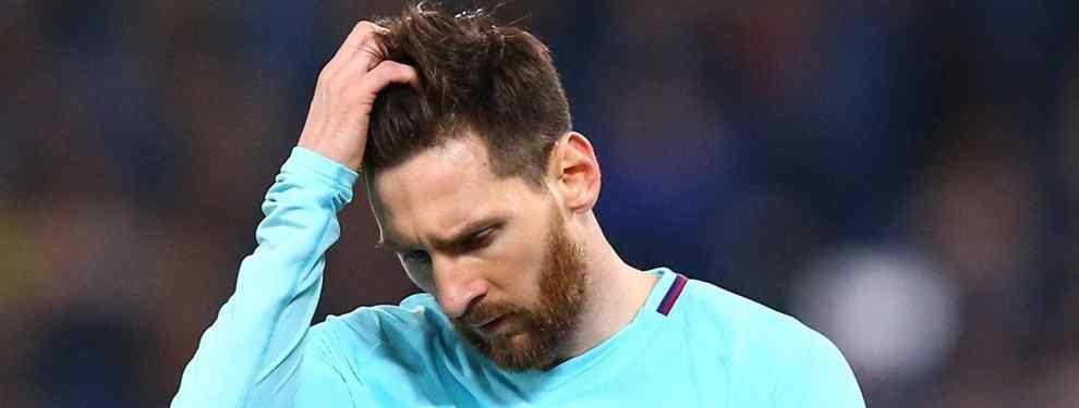 Messi no lo quiere en el Barça (y llama al Real Madrid para negociar con Florentino Pérez)