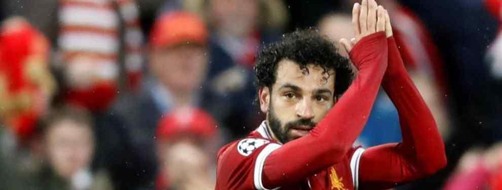Mohamed Salah es el hombre del momento. El Liverpool ya le ha puesto precio si alguien quiere hacerse con él, y Florentino Pérez ya prepara la chequera y un galáctico.
