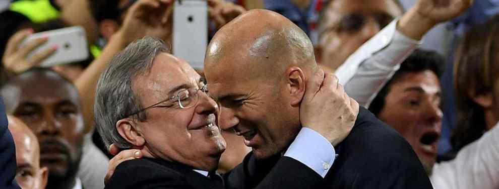 Zidane cierra con Florentino Pérez la primera llegada galáctica para el Real Madrid 2018-19